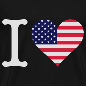 Svart I Love USA Original (3c) Topper - Premium T-skjorte for menn