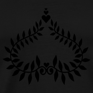 Black Lorbeer-Herz / laurel heart (1c) Tops - Men's Premium T-Shirt