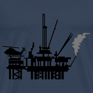 Petrol Ölplattform / offshore oil rig (2c) Tops - Men's Premium T-Shirt