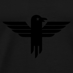 Zwart arend symbool / eagle icon (1c) Tops - Mannen Premium T-shirt