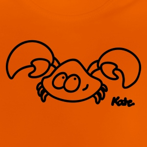Orange Krabbe Børne T-shirts - Baby T-shirt