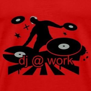 Red DJ at work Tops - Men's Premium T-Shirt