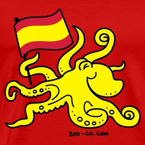 Red Paul the Octopus is Spanish! Tops - Men's Premium T-Shirt
