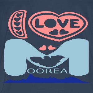 I love Moorea T-shirt or Spaghetti Top - T-shirt Premium Homme