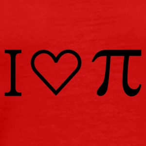 Red I heart PI (1c) Tops - Men's Premium T-Shirt