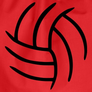 Rot Volleyball Tops - Turnbeutel
