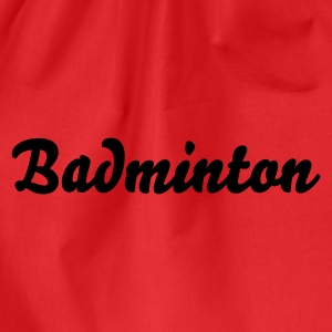 Rot Badminton Tops - Turnbeutel