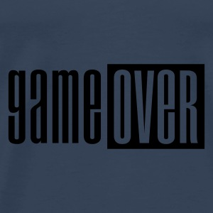 Turquoise Game over deluxe Tops - Mannen Premium T-shirt