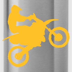 Golden orange Motocross - MX Men's T-Shirts - Water Bottle