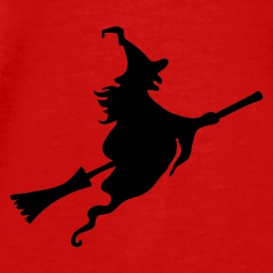 Red Witch with broom Tops - Men's Premium T-Shirt