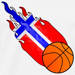 Fireball Basketball Norwegen - Männer Premium T-Shirt