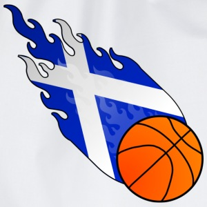 Wit Vuurbal Basketbal Schotland T-shirts - Gymtas