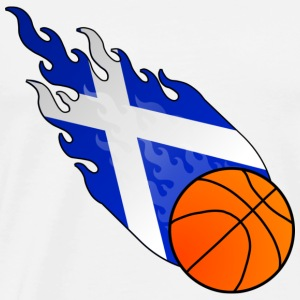 Fireball Basketball Skottland - Premium T-skjorte for menn