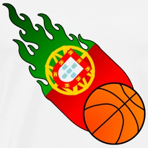 Fireball Basketball Portugal - Men's Premium T-Shirt