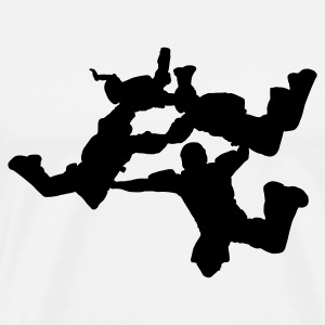 4-Way Skydiving - Men's Premium T-Shirt