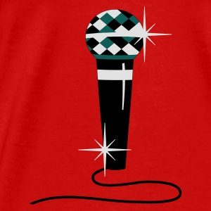Red Diamond microphone Tops - Men's Premium T-Shirt