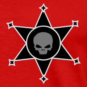 Red Sheriff's star with Skull icon Tops - Men's Premium T-Shirt