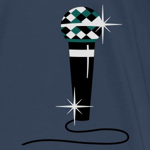 Aqua Diamond microphone Tops - Men's Premium T-Shirt