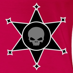 Pink Sheriff's star with Skull icon Tops - Women's Premium T-Shirt