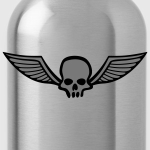 wingskull_comic_2c T-Shirts - Water Bottle