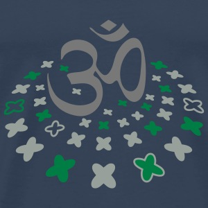 The Om sign in the flower circle Tops - Men's Premium T-Shirt