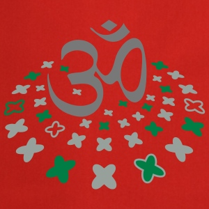 The Om sign in the flower circle Tops - Cooking Apron