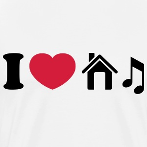 I Love House Musik Tops - Männer Premium T-Shirt