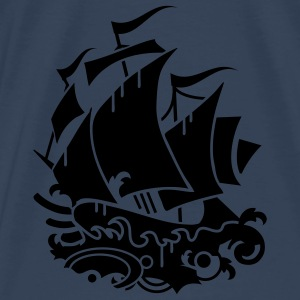A sailing ship Tops - Men's Premium T-Shirt