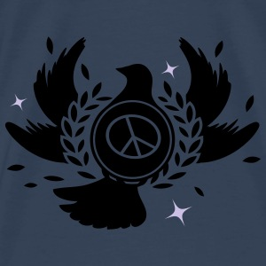 A peace dove with laurel wreath and peace sign  Tops - Men's Premium T-Shirt