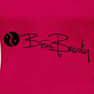 Born Beauty spaghetti top roze - Women's Premium T-Shirt