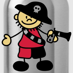 Sweet little pirate captain Tops - Water Bottle
