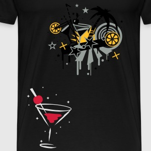cocktail glass Tops - Men's Premium T-Shirt