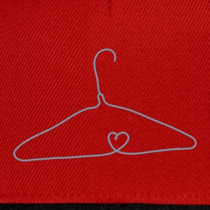 Wire coat hanger with a heart shape Tops - Snapback Cap