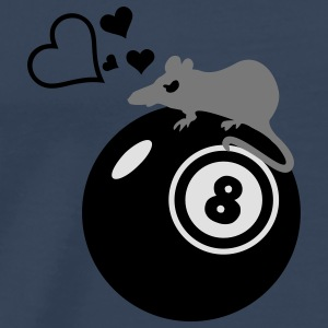 biljart-rat Henry / rat loves eight ball (3c) Tops - Mannen Premium T-shirt