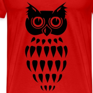 stylized Owl  Tops - Men's Premium T-Shirt