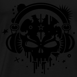 Skull with Headphones Tops - Men's Premium T-Shirt