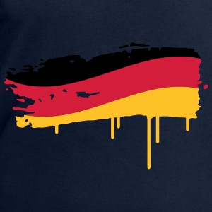 Germany flag painted with a brush stroke Tops - Men's Sweatshirt by Stanley & Stella