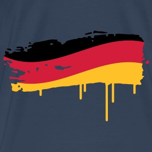 Germany flag painted with a brush stroke Tops - Men's Premium T-Shirt