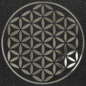 FLOWER OF LIFE 1 - silver stamp | Tank Top - Snapback Cap