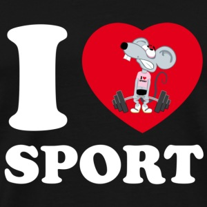 I love Sport - Men's Premium T-Shirt