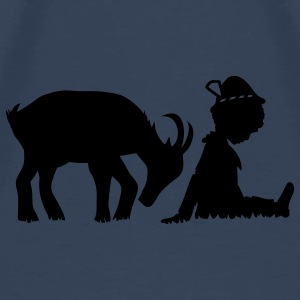A goat and a little boy Tops - Men's Premium T-Shirt