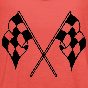 racing flags sport T-Shirts - Women's Tank Top by Bella