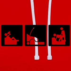 Three Little Pics – Men 11 - Kontrast-Hoodie
