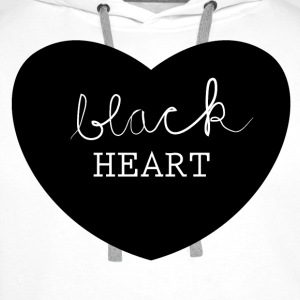 black heart Topper - Premium hettegenser for menn