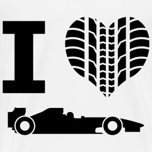 Tire Profile heart - I love Formula 1 - Men's Premium T-Shirt