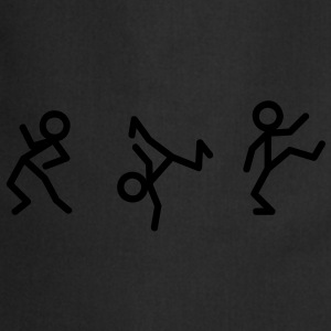 Dancing stick figure T-shirts - Tablier de cuisine
