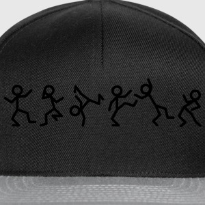 Dancing stick figure T-shirts - Snapback cap