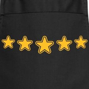 outline_stars_pattern_1c Camisetas - Delantal de cocina