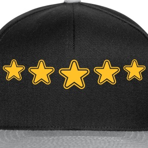 outline_stars_pattern_1c T-shirts - Casquette snapback