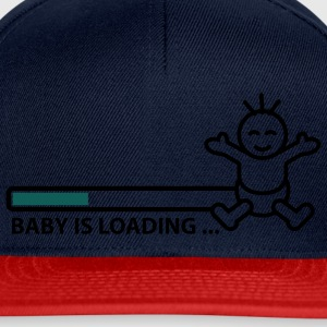 baby_is_loading_text_version_2c Topper - Snapback-caps